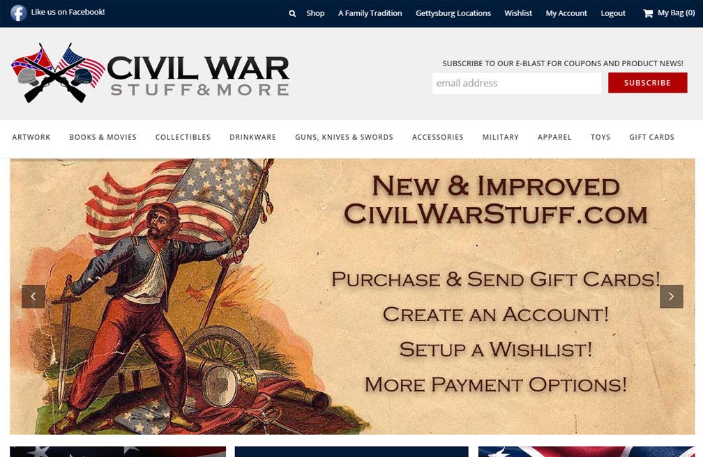CivilWarStuff.com Screenshot