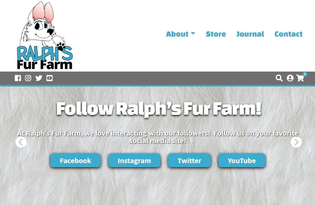 Ralph's Fur Farm Website Design and Development